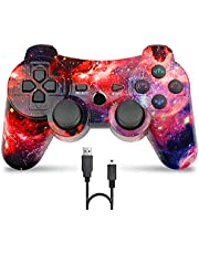 Bowei PS3 Controller Wireless,Double Shock Gamepad for Playstation 3 Remotes,6 axis Joystick Wireless PS3 Controller with Charging Cable