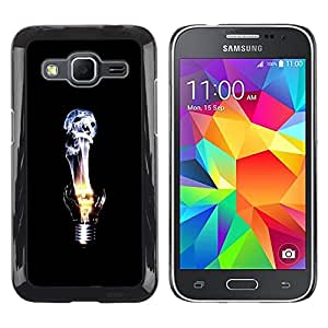 LECELL -- Funda protectora / Cubierta / Piel For Samsung Galaxy Core Prime SM-G360 -- Skull Flame Light bulb --