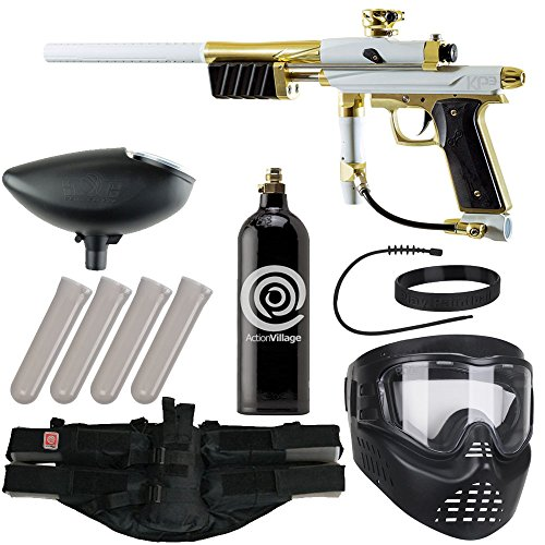 Action Village Azodin Epic Paintball Gun Package Kit (KP3) (White/Gold) ()