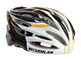 MSL Men's Fashion Adults Sports Mountain Adjustable Bike Riding Cycling Helmet Black