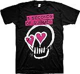 ill Rock Merch 5 Seconds of Summer Heart Skull Pink T-Shirt