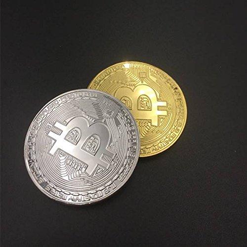 2 unidades BTC BITCOIN física oro plata anillo de metal ...