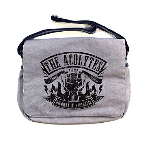 Arcane Store - Bolso al hombro de Algodón para hombre Vintage Light Grey