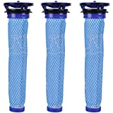 KEEPOW 3 Pack Washable Pre Filters Replacement for Dyson V6 V7 DC58 DC59 DC61 Vacuums