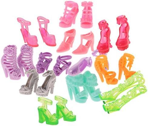 Sharplace 人形 ドール サンダル ハイヒール ブーツ シューズ ドール用 装飾 アクセサリー 12ペア入り