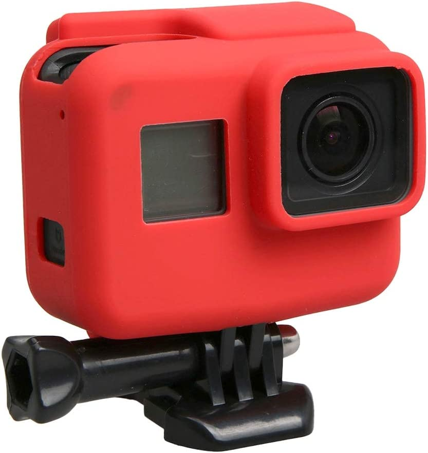Black Color : Red MEETBM ZIMO,for GoPro HERO5 Silicone Border Frame Mount Housing Protective Case Cover Shell