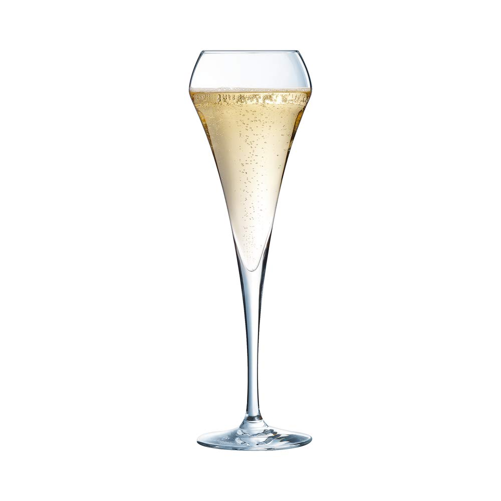 Katie Jayne Handmade Tulip Glass Champagne Flutes Set of 4