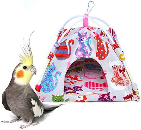 Gifty 小鳥 ハウス 布製 テント 吊り下げ ブランコ ベッド Lサイズ 寒さ対策 鳥かご 巣 インコ おもちゃ