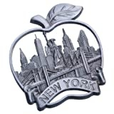 fridge magnet new york city - Big Apple New York Souvenir Metal Fridge Magnet Brooklyn Bridge NYC Statue of Liberty NY Empire State Building Chrysler Building Metal Magnet