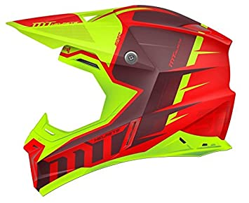 MT - Casco Cross SYNCHRONY SPEC GLOSS Rojo y Verde Flúor (L)