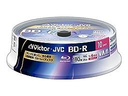 10 JVC Bluray Discs BD-R 25 GB 6x Speed HD Blu ray Blank Media Printable