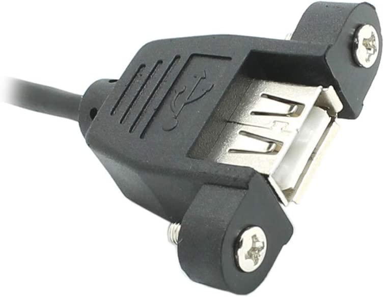 CN, Cable Length: 20CM, Color: Other Cables 20cm 90 Degree Left//Right Angled USB 2.0 A Male Connector to Female Extension Cable with Panel Mount Hole