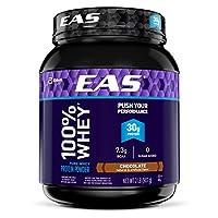 Polvo de proteína de suero 100% puro EAS, chocolate, 2 lb (el empaque puede variar)