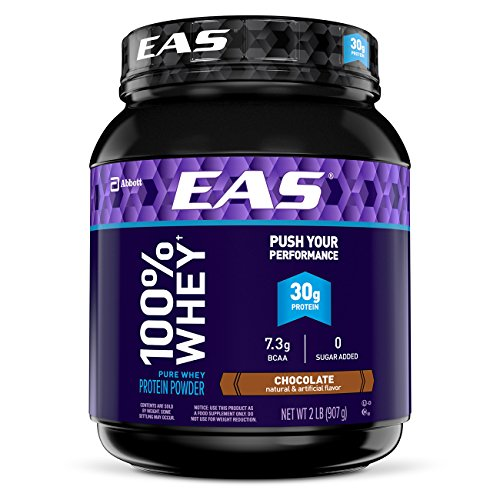 EAS 100% Pure Whey Protein Powder, Chocolate, 2 lb (Packaging May Vary)