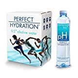 Perfect Hydration Alkaline Water, 9.5+ pH | 33.8 Fl. Oz (Pack of 6) | Ultra Purified, Electrolyte Enhanced Drinking Water, 33.8 Fl. Oz.
