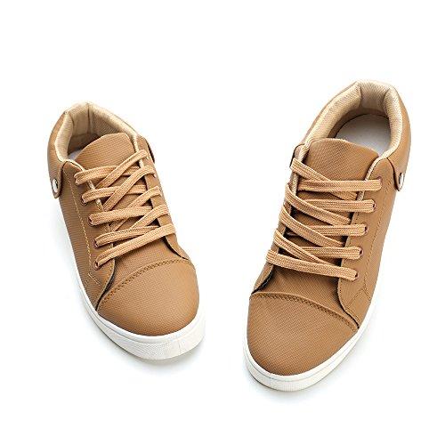 Alexis Leroy Heren Lace-up Mode Sneaker Schoenen Kaki