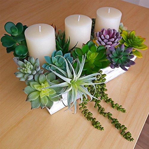 Supla-14-PCS-Fake-Succulents-Plants-Unpotted-Artificial-Succulent-Plants-Faux-Succulents-Fake-Mini-Aloe-Echeveria-Agave-Kalanchoe-Succulents-Plants-Tillandsia-Air-Plant-Stems-for-Floral-Arrangement
