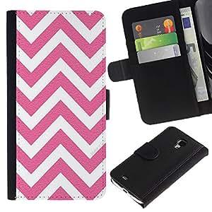All Phone Most Case / Oferta Especial Cáscara Funda de cuero Monedero Cubierta de proteccion Caso / Wallet Case for Samsung Galaxy S4 Mini i9190 // White Pink Pattern Minimalist
