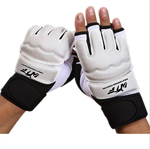 Wonzone Half Finger Taekwondo Training Boxing Gloves, Taekwondo/ Muay Thai Training/Punching Bag Gym Half Mitts Sparring Gloves