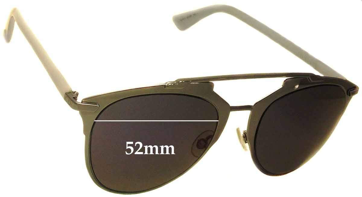 fb3ee99a58 Amazon.com  SFx Replacement Sunglass Lenses fits Christian Dior Reflected  52mm Wide (Polycarbonate Clear Hardcoat Pair-Regular)  Clothing