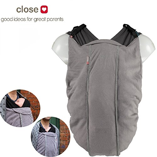 CLOSE Original ** Cocoon Fleece-Cover 2in1 / Wetterschutz ** für ALLE gängigen Babytragen, Tragetuch, Mei Tai, Ring Sling, Komforttrage etc. Close Parent
