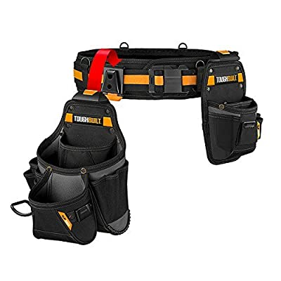 ToughBuilt - Handyman Tool Belt Set - 3 Piece, Includes 2 Pouches, Padded Belt, Heavy Duty, Deluxe Organizer Premium Quality