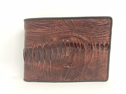 ThanhVinhCrocodile Genuine Ostrich Leg Skin Leather Man Bifold Wallet