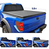 Tyger Auto T1 Roll Up Truck Tonneau Cover TG-BC1C9006 Works with 2014-2019 Chevy Silverado GMC Sierra 1500 | Fleetside 5.8' Bed | for Models Without Utility Track System