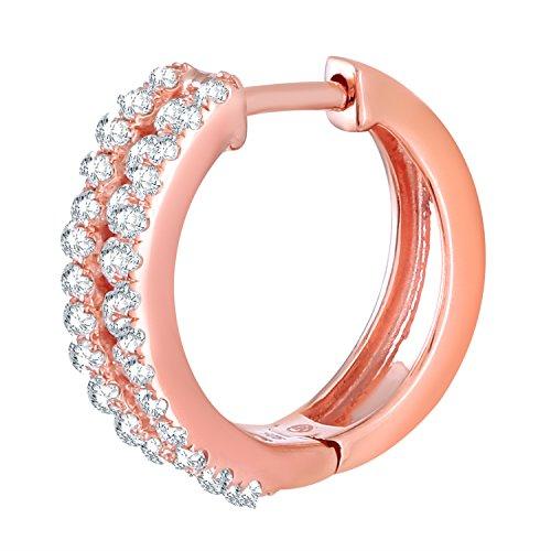 Giantti Diamant pour femme Boucles d'oreilles créoles (0.725CT, VS Clarté, Gh-colour)