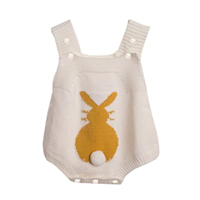 Lanhui Sunny Infant Baby Boy Girl Rabbit Romper Knitted Bunny Jumpsuit Outfit Clothes