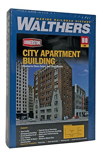 - Walthers Trainline City Apartment Building - Kit Train Collectable Train