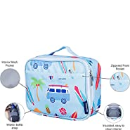 Wildkin Lunch Box, Insulated, Moisture Resistant, and Easy to Clean with Helpful Extras for Quick and Simple Organization, Ages 3+, Perfect for Kids or On-The-Go Parents, Olive Kids Design – Birdie