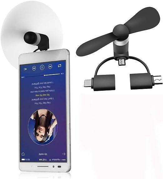 Mini Ventiladores Portátiles 3 En 1 para Teléfono Celular ...