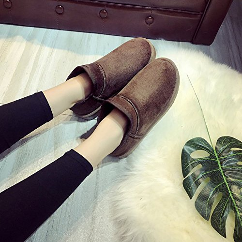 Pull Women's Coffee 6 Colors Boot Snow Classic High Type BERTERI On Christmas Ankle Winter 8xTddOwP