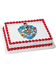 Whimsical Practicality Paw Patrol Yelp for Help Edible Cake Icing Image for 8 Round Cake, 7.5 Round Sheet