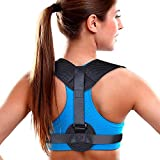 Aroamas Posture Corrector for Women & Men, Relieves Upper Back & Shoulders Pain, Corrects Slouching, Hunching & Bad Posture, Clavicle Support Adjustable Brace, Chest 28''-47''