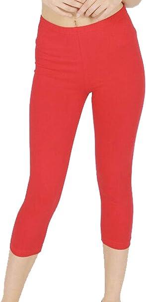Mymixtrendz. Leggings 3/4 Comfort para Mujer, algodón, Talla Corta ...