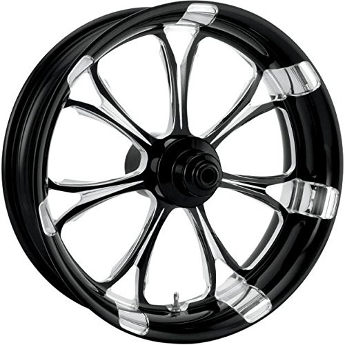 Performance Machine Paramount Platinum Cut 21x3.5 Front Wheel (Dual Disc), Color: Black, Position: Front, Rim Size: 21 12047106PARJBMP