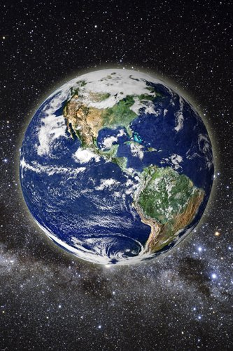 BEAUTIFUL PIC OF EARTH FROM SPACE POSTER clear SCIENTIFIC educational 24X36 022f5c30319