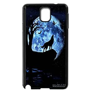 [Tony-Wilson Phone Case] For Samsung Galaxy NOTE4 -IKAI0446758-Wolf,Wolves and Moon Pattern