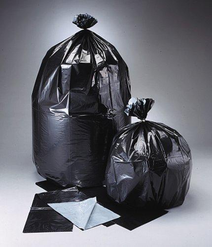 "Plasticplace 55 Gallon Trash Bags, Black, Microban - antimicrobial, odor control, 38"" x 58"" 100/Case 2.2 Mil"