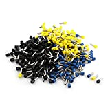 Aexit 480Pcs E6012 Audio & Video Accessories 10AWG Black Yellow Blue Tube Insulated Wire Connectors & Adapters End Connector