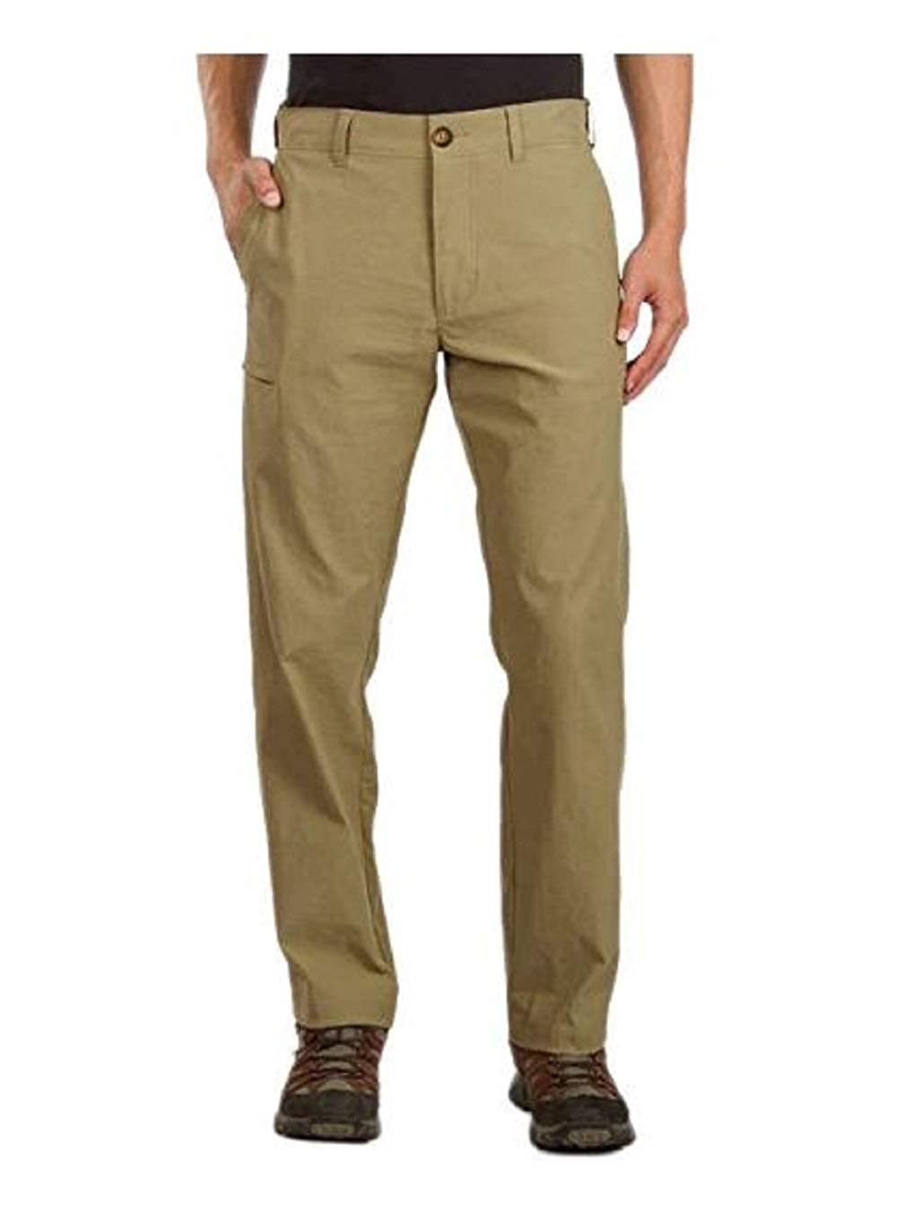UB Tech by Union Bay Men's Classic Fit Comfort Waist Chino Pants Khaki