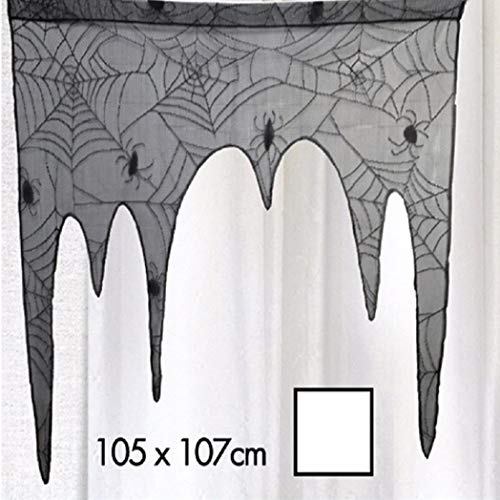 Hot Sale!DEESEE(TM)Aunted House Gothic Black LACE SPIDER WEB TABLE Cloth Curtains Halloween Decor ()