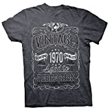 50th Birthday Gift Shirt - Vintage Aged to Perfection 1970 - Dk. Heather-002-Lg