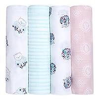 HALO SleepSack 100% Cotton Swaddle, Pink Bird, Newborn