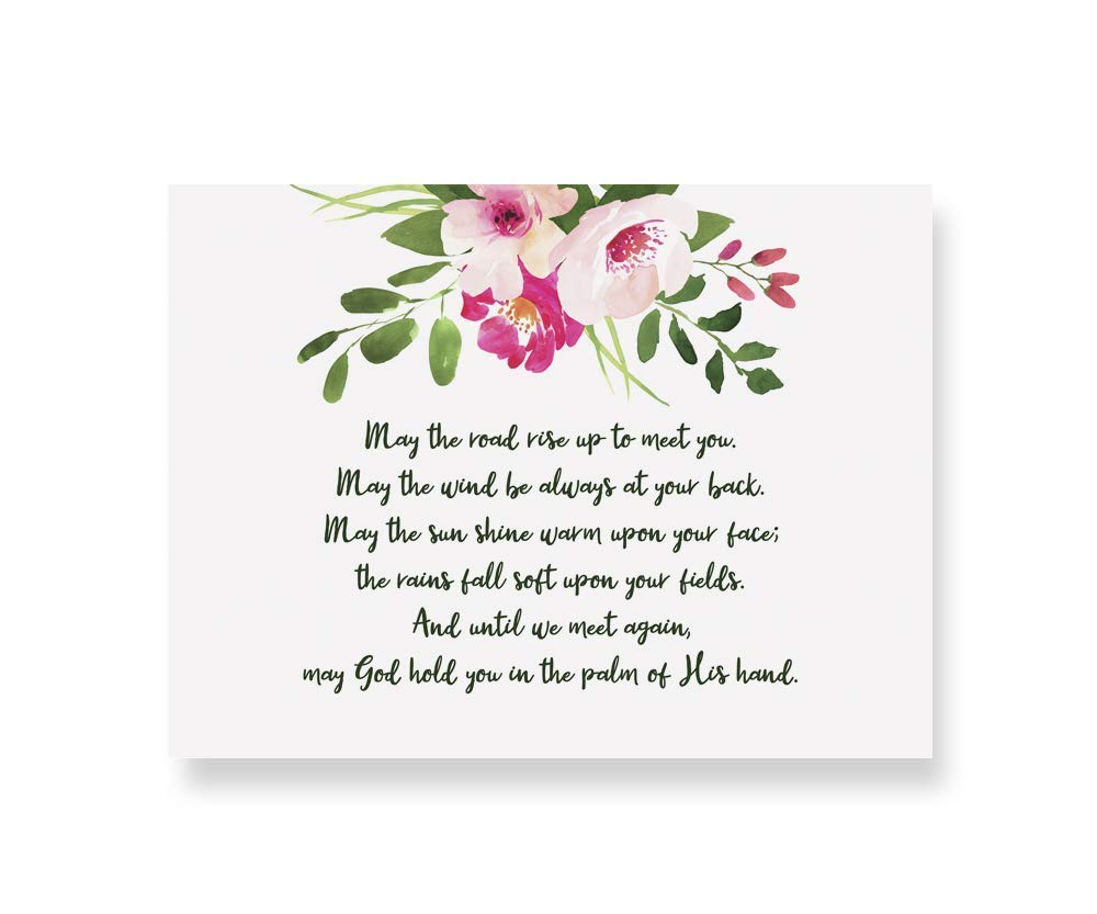 Amazon.com: Irish Blessing Floral Quote PRINT 'May The Road Rise Up To Meet  You.' Perfect Leaving Gift/Deployment Gift/Birthday Gift.: Handmade