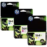 HP 564XL High Capacity Cartridges Combo-Pack (1 Cyan,1 Magenta, 1 Yellow)