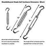 Shade&Beyond Shade Sail Hardware Kit for Rectangle