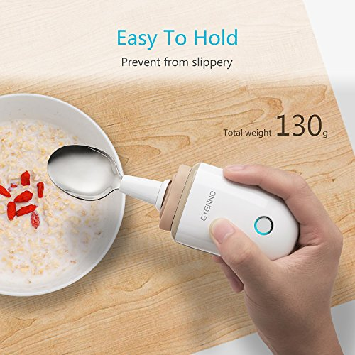 Parkinson Spoon for hand tremor, GYENNO Steady Spoon with Self Stabilizing Smart Lift Kit for Parkinsons Patients, Silverware Kit Cutlery for Elderly ¡­ (Spoon) by GYENNO (Image #5)